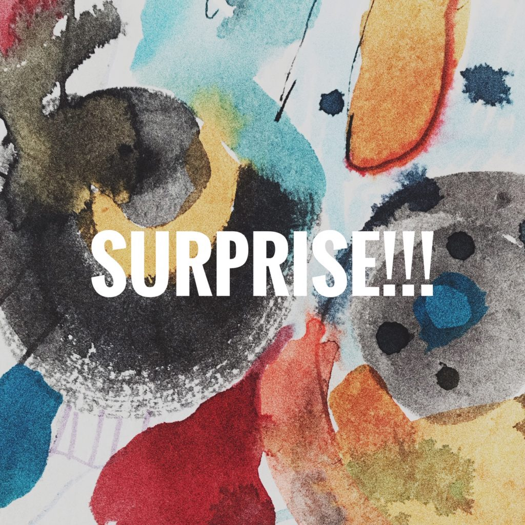 Take part in an online expressive arts workshop and explore the theme of surprise.