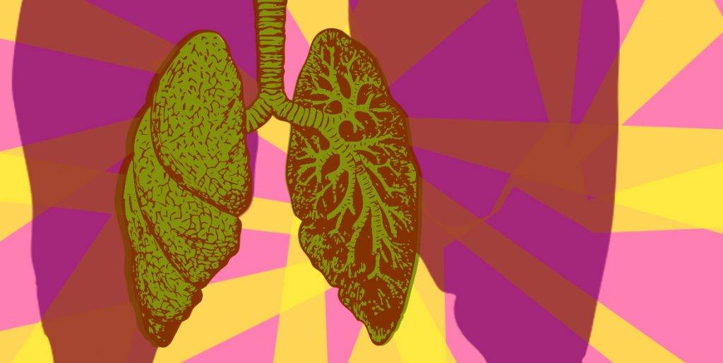 An online expressive arts workshop focused on our lungs and how we could take care of them better.