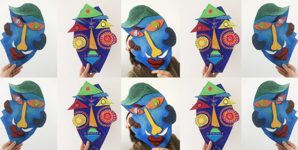 In this expressive arts workshop we will focus on mask-making.